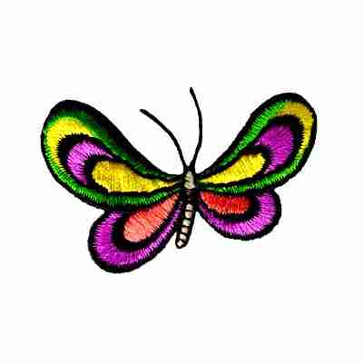 Butterflies - Stylized Colorful Butterfly Iron On Insect Patch A
