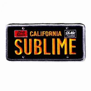 Sublime Rock Band Iron On License Plate Frame Patch