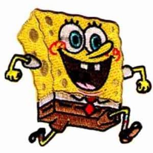 SpongeBob Running Iron On Patch Applique