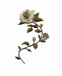 Medium Beige/Brown Rose Iron On Applique