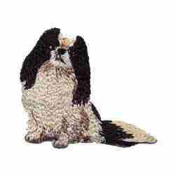 Dogs - Japanese Chin Dog Iron On Applique