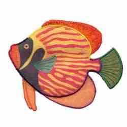 Extra Large Tropical Fish Iron On Patch Applique