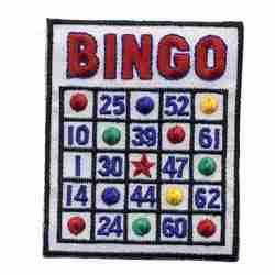 Bingo Card Iron or Sew on on Patch