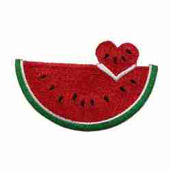 Fruit - Watermelons - Large Watermelon with Heart Cutout Iron On