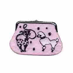 Purses - Kitty and Poodle Coin Purse Iron On Applique