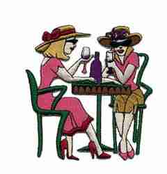Spirits - Ladies at Table Iron On Applique
