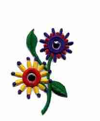 Small Pin Wheel Floral Applique