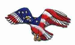 Patriotic American Flag Eagle Iron On Applique