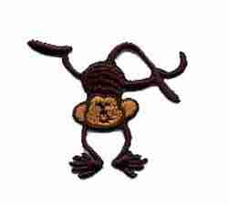 Monkey doing Handstand Iron On Patch Applique