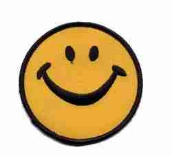 Smiley Face Iron On Applique