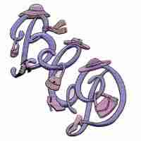 Pink Hat Lady Iron On Letter Initials/Monograms - Sold Separatel