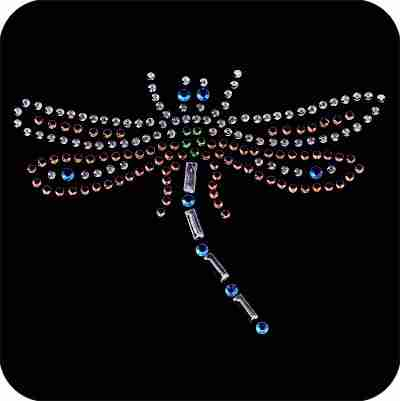 Dragonflies - Multi-colored Rhinestud Dragonfly