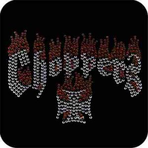 "Large Rhinestone ""Choppers"" Iron Rhinestone Applique"