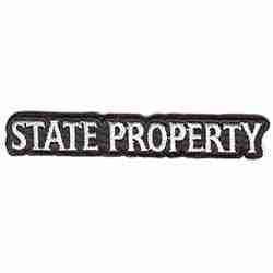 """STATE PROPERTY"" iron on patch"