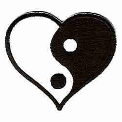 Yin Yang Heart Iron On Patch Applique