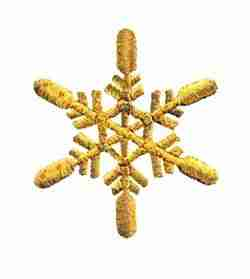 Christmas Snowflake in GOLD -LARGE- Iron On Holiday Applique