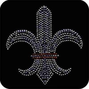 Fleur de Lis Rhinestone Iron On Applique