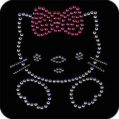 Cats - Hello Kitty Rhinestud Iron On Applique