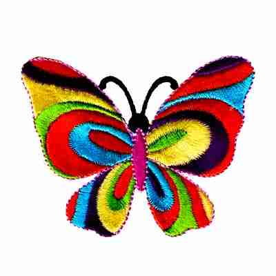 Butterflies - Small 60's Multi-Colored Butterfly