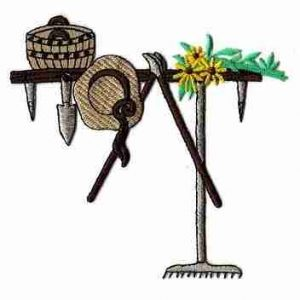 Gardening Set Iron On Patch Applique