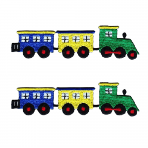(2-pack) Choo-Choo Train Children's Iron On Patch - Large