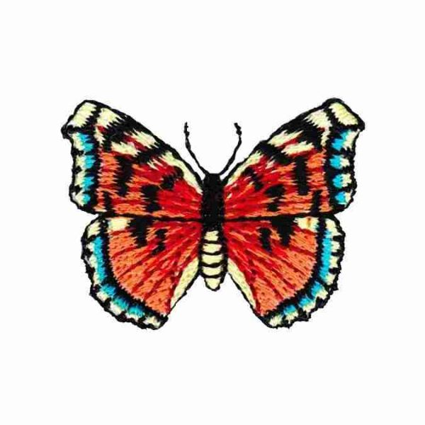 Embroidered Multicolored Butterfly applique iron on