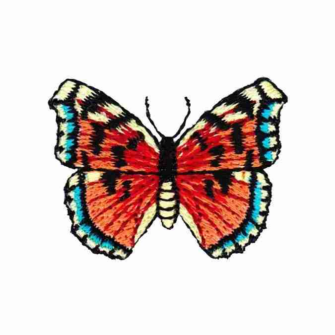 Embroidered Iron On Applique Patch Butterfly Yellow//Black Insect