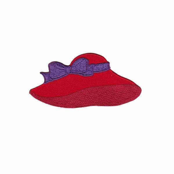Red Hat With Floppy Brim Red Hat Lady Society Applique