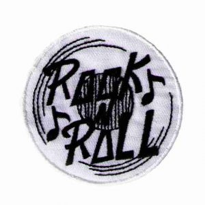 White Rock n Roll Record Iron On Patch Applique