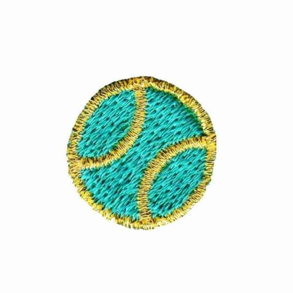 Tennis - Small Green Tennis Ball Iron on Applique