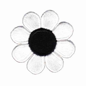 Cute White Daisy Iron On Floral Patch Appliques