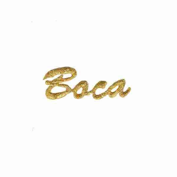 Boca Iron on Patch Applique