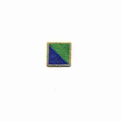 Blue-Green Nautical Flag Iron On Patch Applique