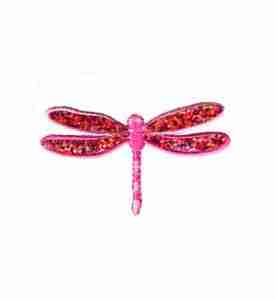 Dragonflies - Iridescent Sparkle PINK Dragonfly
