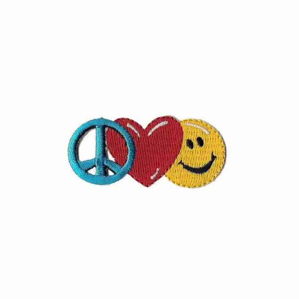 product 8 1 811 smiley face heart peace patch applique