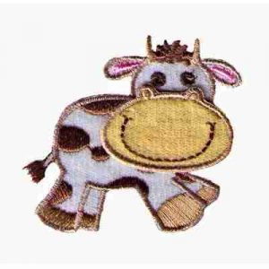 Cows - Embroidered Happy Cow Iron On Animal Patch Applique