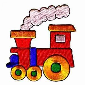 Train Patches - Red Choo-Choo Train Iron On Children's Patch App