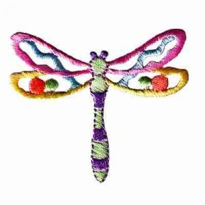 Dragonflies - Cut Out Pastel Dragonfly Iron On Patch Applique