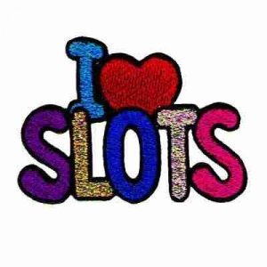 """""""I (Love) Slots"""" Iron On Gambling Patch Applique"""