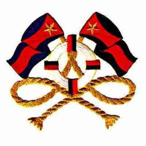Small Red & Navy Nautical Flags Iron On Yachting Patch