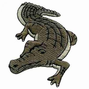 Crocodile Embroidered Iron On Reptile Patch Applique