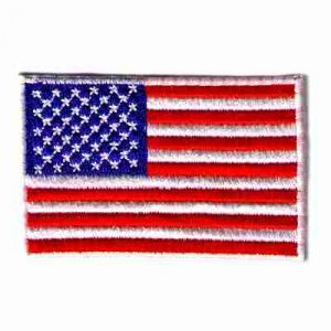 Small American Flag Iron On Patriotic Patch Applique