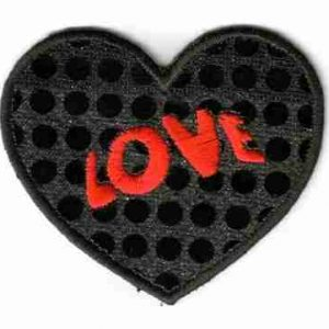 Black Sequin Love Heart