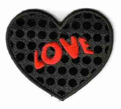 Black Sequin Love Heart