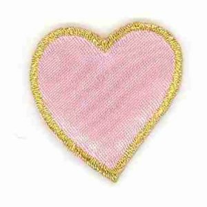 Pink Cushion Heart Patch Iron on Applique