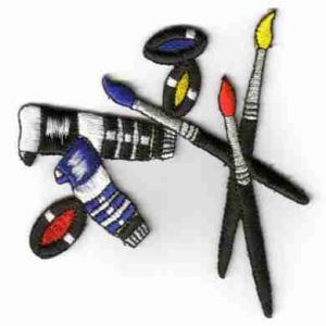 Painting Kit Iron on Patch applique