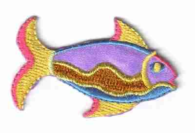 Fish - Colorful Gold Thread Fish