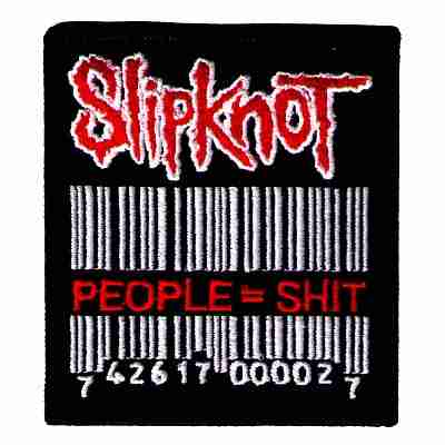 "Slipknot ""People = Sh*t"" Iron On Rock Band Patch"