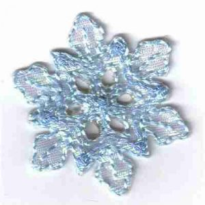 Christmas Blue Snowflake Iron On Applique