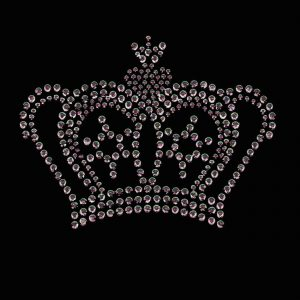 Hotfix Silver rhinestud crown